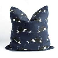 Orca Whale | Cushion Cover | Kelsey Emblow